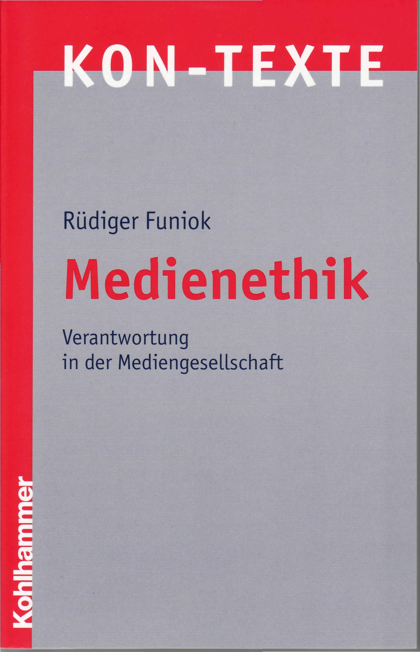 Cover Medienethik Funiok